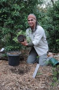 The ceremonial tree planting